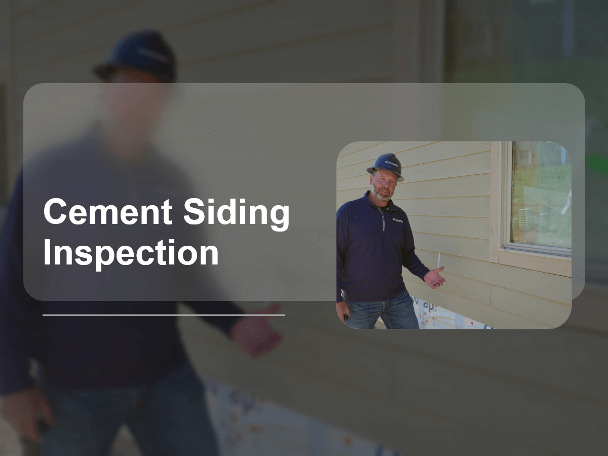 Cement Siding Inspection