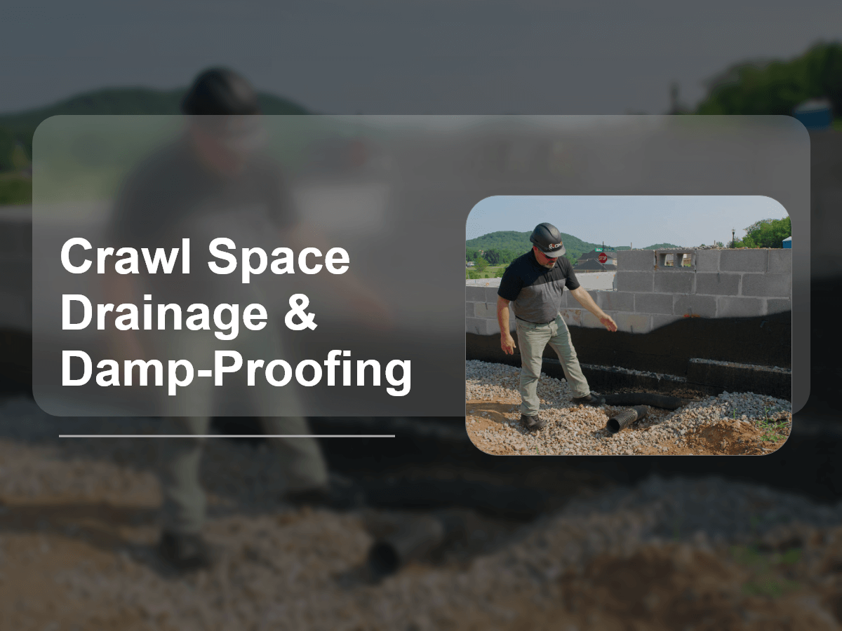 Crawl Space Drainage & Damp-Proofing
