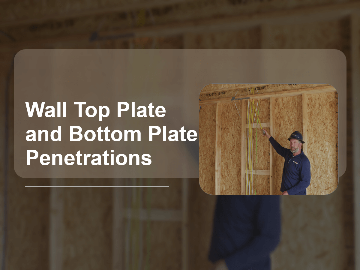Wall Top Plate and Bottom Plate Penetrations